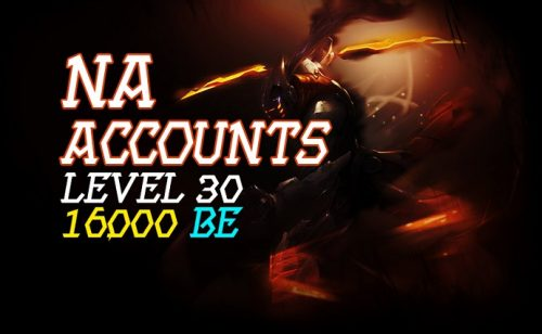 NA Account With 16,000 BE