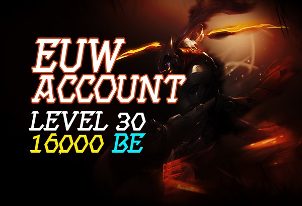 EUW Account With 16,000 BE