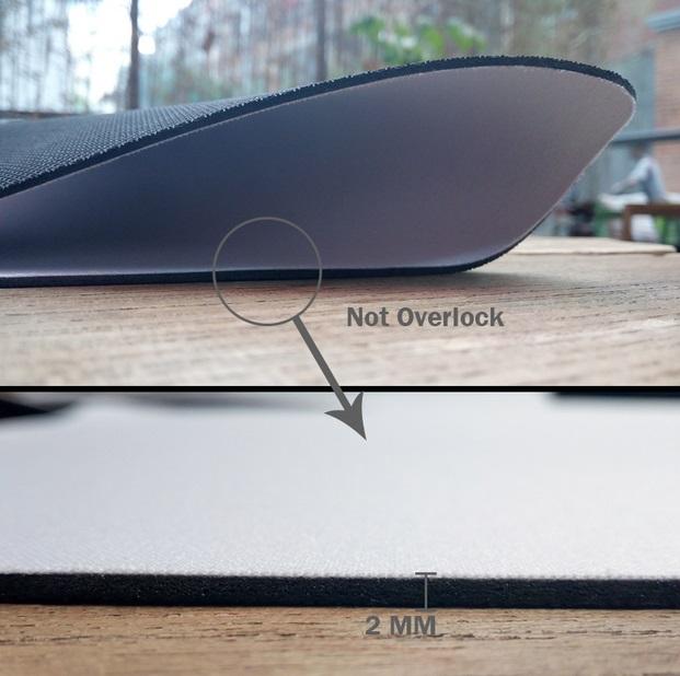 Mousepad without overlock