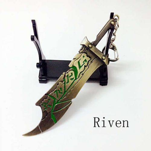 Riven Sword Weapon Keychain