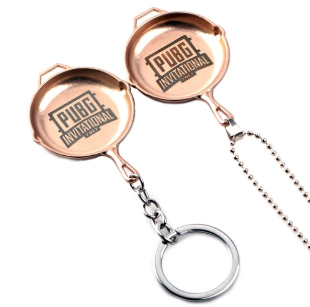 PUBG Logo Necklace And Keychain