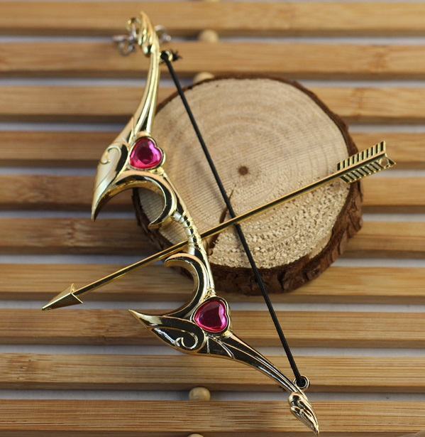 Ashe Bow And Arrow Weapon Keychain 2