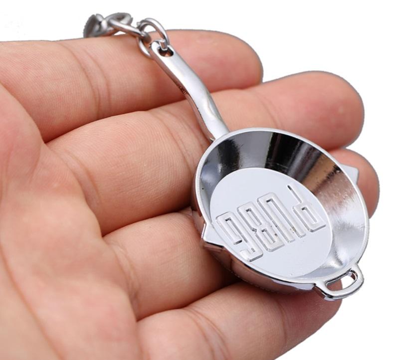 PUBG Logo Keychains Silver