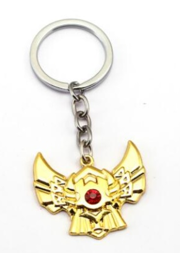 Gold Division Badge Keychains