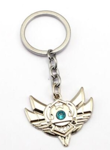 Silver Division Badge Keychains