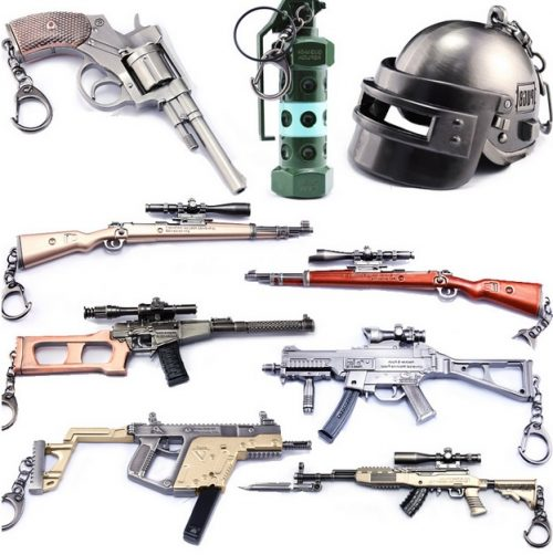 Pubg Weapons And Wearables Keychain
