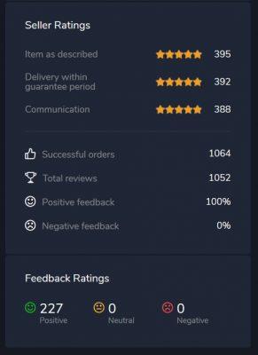 100% Feedback Rating Epicaccountstore